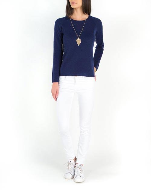 Ladies' Ultralight Cashmere Raglan Crew Neck