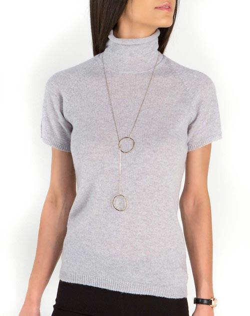 Ladies' Ultralight Cashmere Short Sleeve Polo Neck