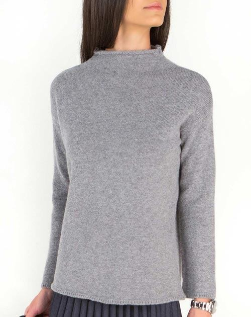 Ladies' Wide Funnel Neck Jumper