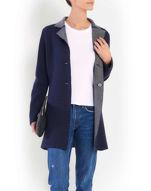 Ladies' Reversible Merino & Cashmere Coat