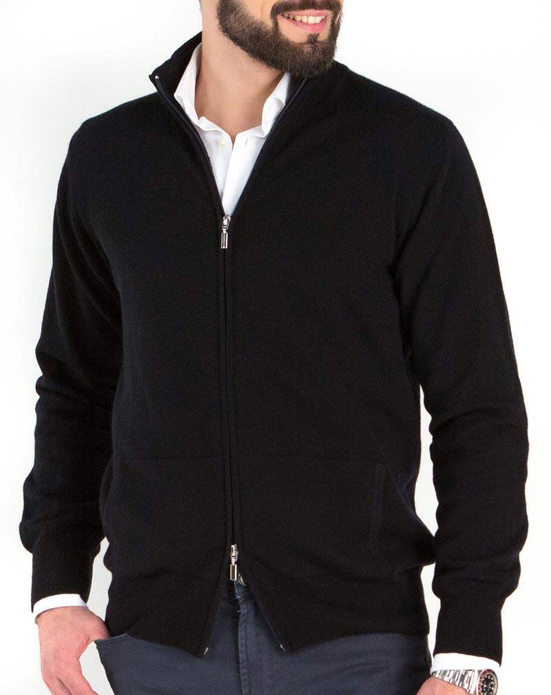 newest collection 9ef0a a76ca Maglia Uomo Cardigan Zip Puro Cashmere | MaisonCashmere
