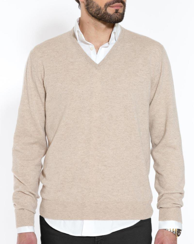 Men's Cashmere V Neck Sweater | MaisonCashmere