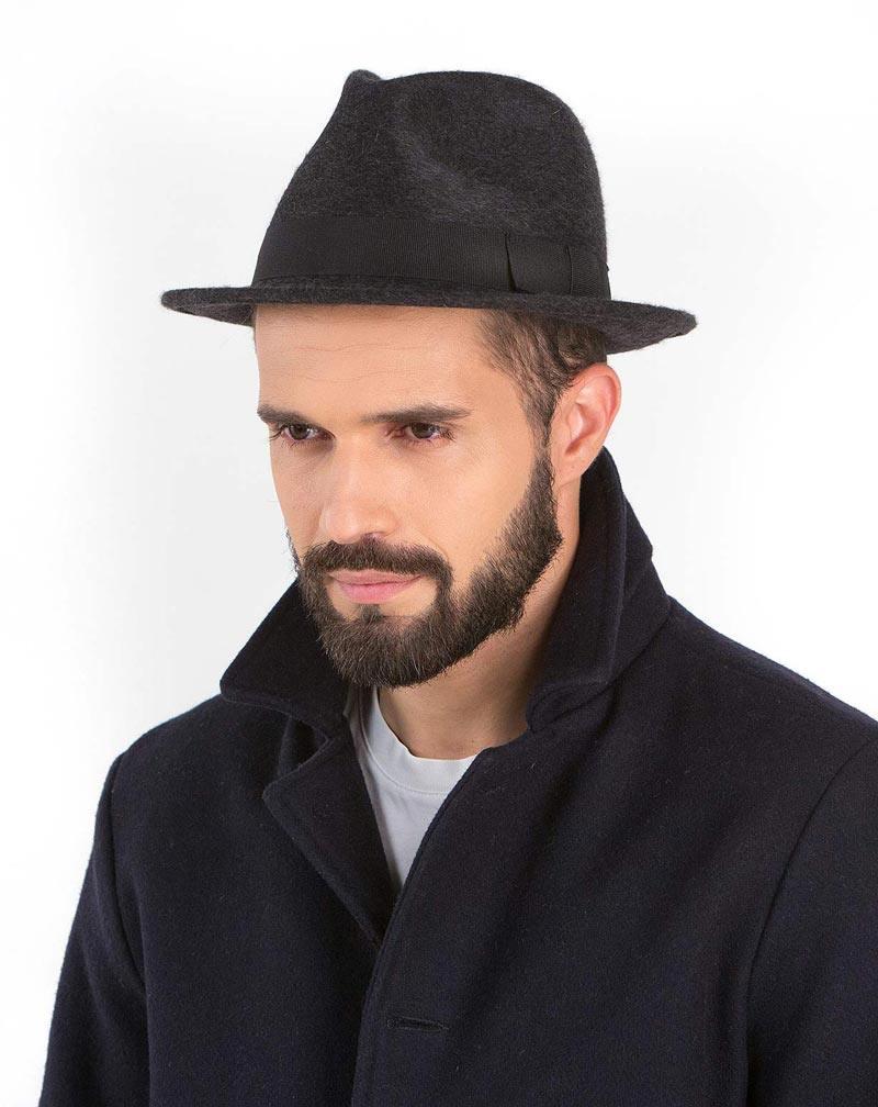 half off 12719 03836 Cappello Uomo Modello Borsalino in Cashmere