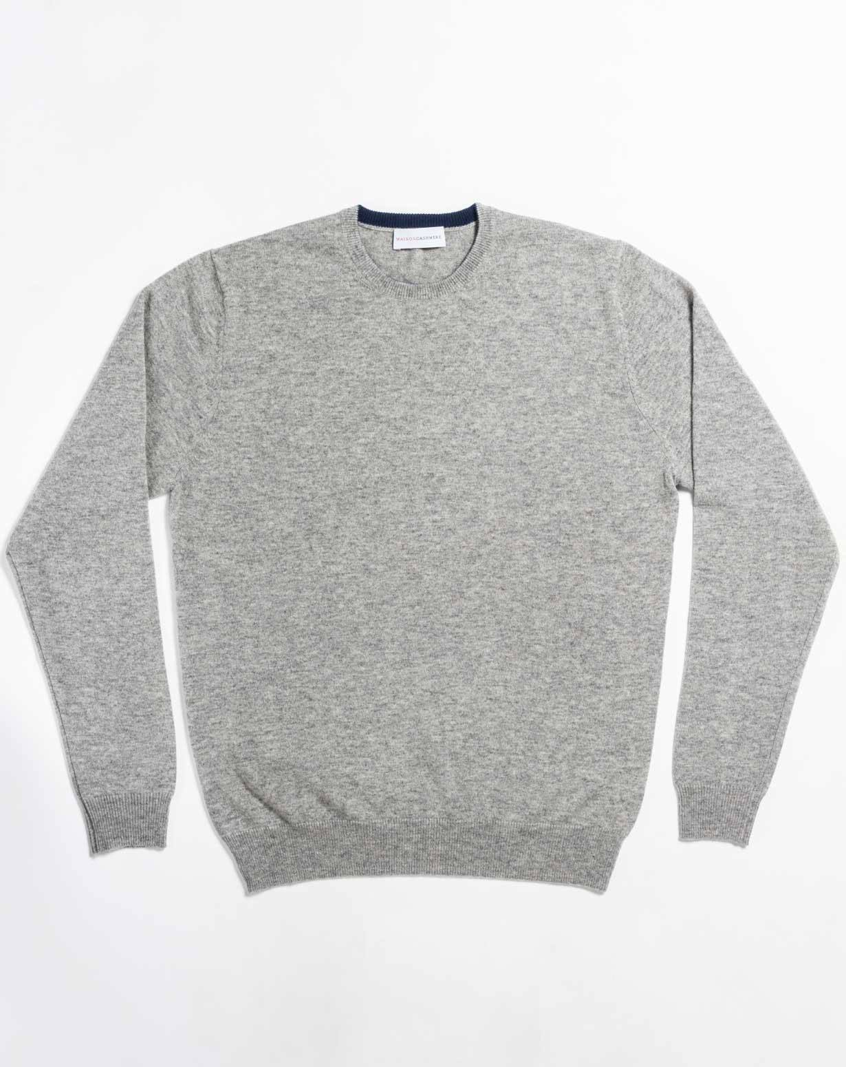 Men's Cashmere Plus Size - Crew Neck