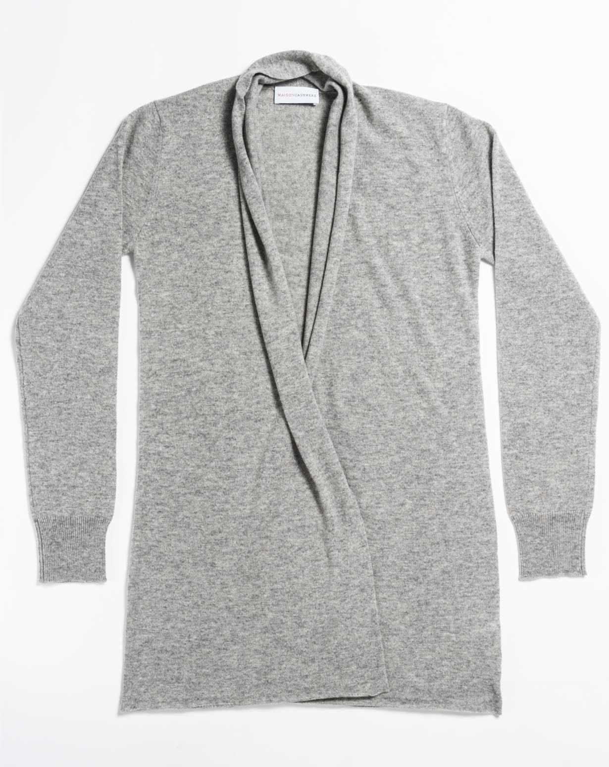 Women's Plus Size Open Cardigan | MaisonCashmere