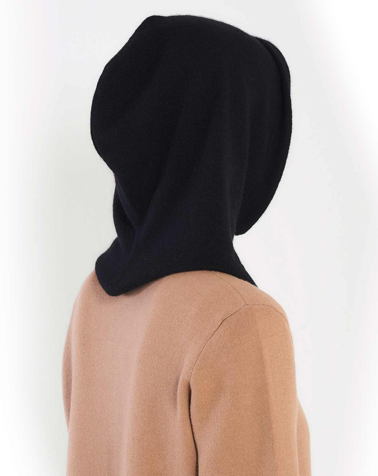 Pure Cashmere Hoodie Hat