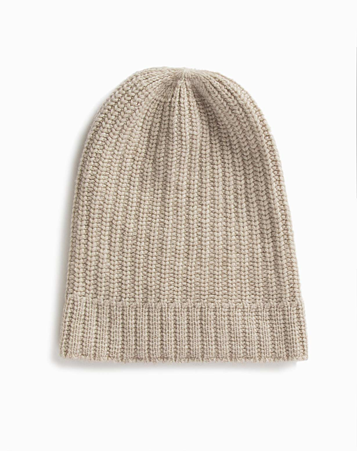 1f6d94c90252 Cashmere Fisherman's Rib Slouch Beanie | MaisonCashmere