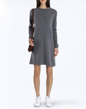 Women's Pure Cashmere Boat Neck Dress
