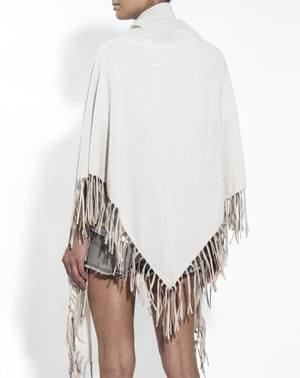 Ladies' Pure Cashmere Wrap with Fringes
