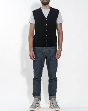 Men's Pure Cashmere Cardigan Vest