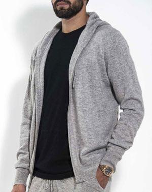 Men's Pure Cashmere Zip Hoodie