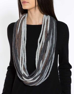 Cashmere Cable Knit Neck Scarf