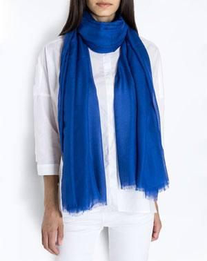 Pashmina Schal - Kornblumenblau