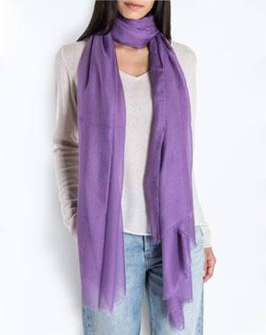 Cashmere Blend Pashmina - Purple