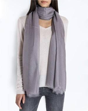 Cashmere Blend Pashmina - Grey
