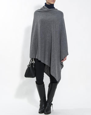 Ladies' Pure Cashmere Poncho