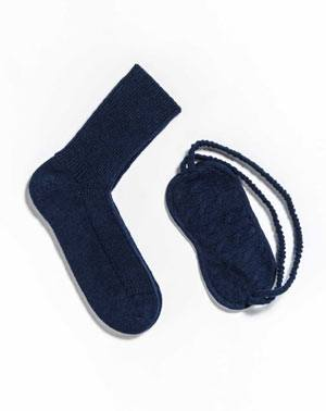 Pure Cashmere Bed Socks and Sleep Mask