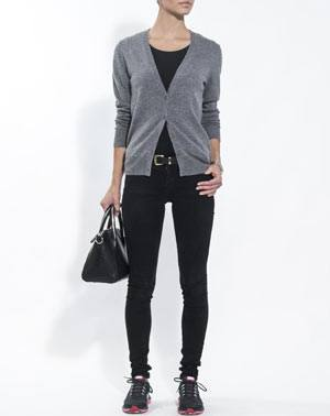 Ladies' Pure Cashmere V Neck Cardigan