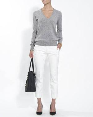 Ladies' Pure Cashmere V-Neck Jumper