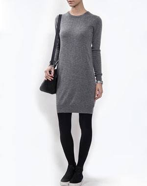 Cashmere Crew Neck Dress