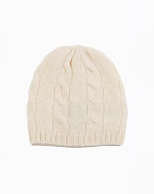 Cashmere Cable Knit Baby Hat