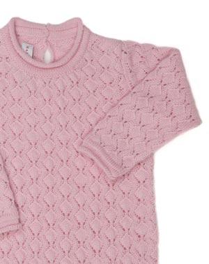 Cashmere Crochet Stitch Baby Onesie