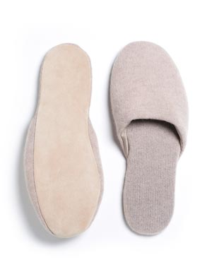 Unisex Pure Cashmere Bedroom Slippers