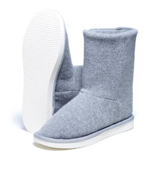 Women's Pure Cashmere Slipper Boots