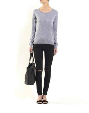 Ladies' Silk Cashmere Crew Neck Jumper