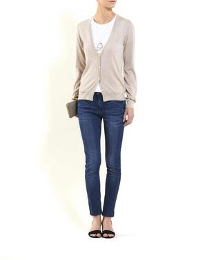 Women's Silk Cashmere V-Neck Cardigan
