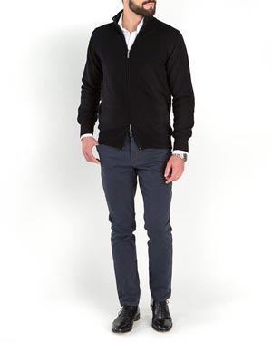 Men's Pure Cashmere Double Zip Cardigan