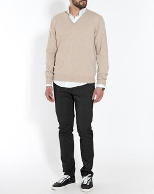 Men's Pure Cashmere V-Neck Jumper