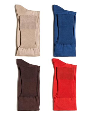 Lange Herrensocken aus Baumwolle und Cashmere