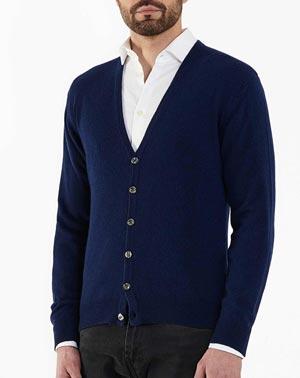 Top Qualität moderner Stil Leistungssportbekleidung Cardigan aus 100 % Kaschmir Herren