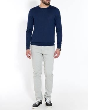 Men's Silk Cashmere Crew Neck Sweater