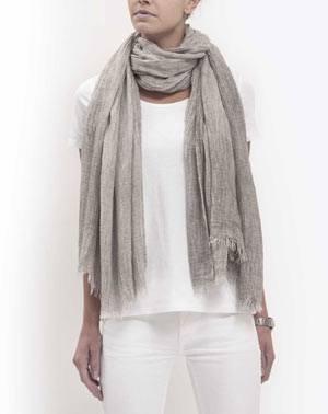 Batik Pashmina - Aschgrau