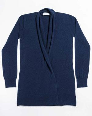 Ladies' Cashmere Plus Size - Open Cardigan