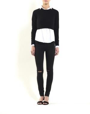 Pure Cashmere Crop Crew Neck Jumper