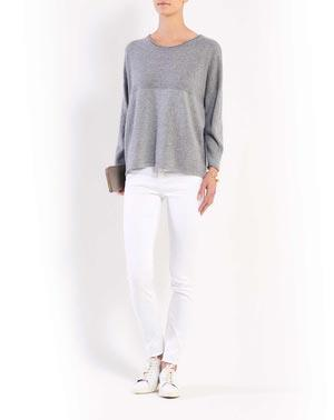 Cashmere Lurex Batwing Sleeve Sweater