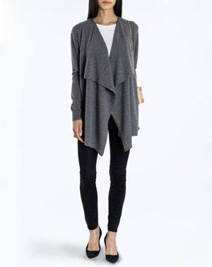 Ladies' Pure Cashmere Waterfall Cardigan