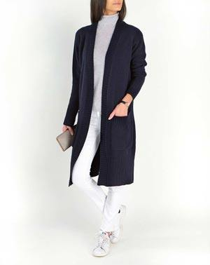 Lambswool & Cashmere Ladies' Long Knit Cardigan Coat