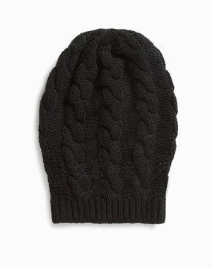 Ladies' Pure Cashmere Cable Knit Beanie
