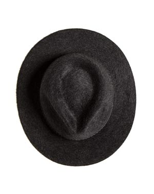 Ladies' Pure Cashmere Flat Brim Fedora