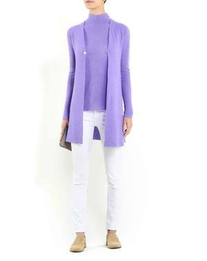 Ladies' Cashmere Links Stitch Duster Cardigan