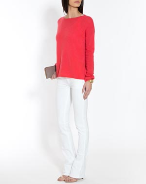 Ladies' Oversized Cashmere Boat Neck Jumper