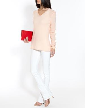 Women's Oversized Cashmere V-Neck Sweater
