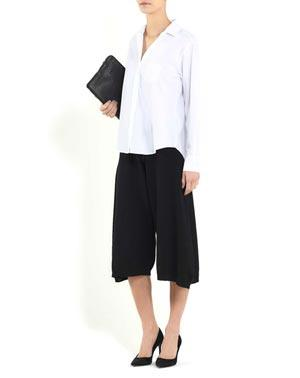 Ladies' Pure Cashmere Cropped Culottes