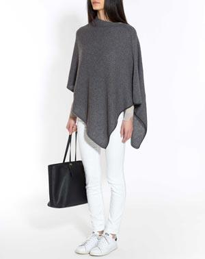 Pure Cashmere Puppytooth Poncho