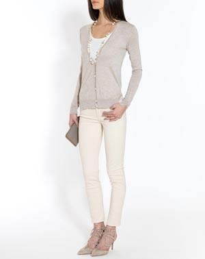 Ladies' Silk Cashmere V-Neck Cardigan