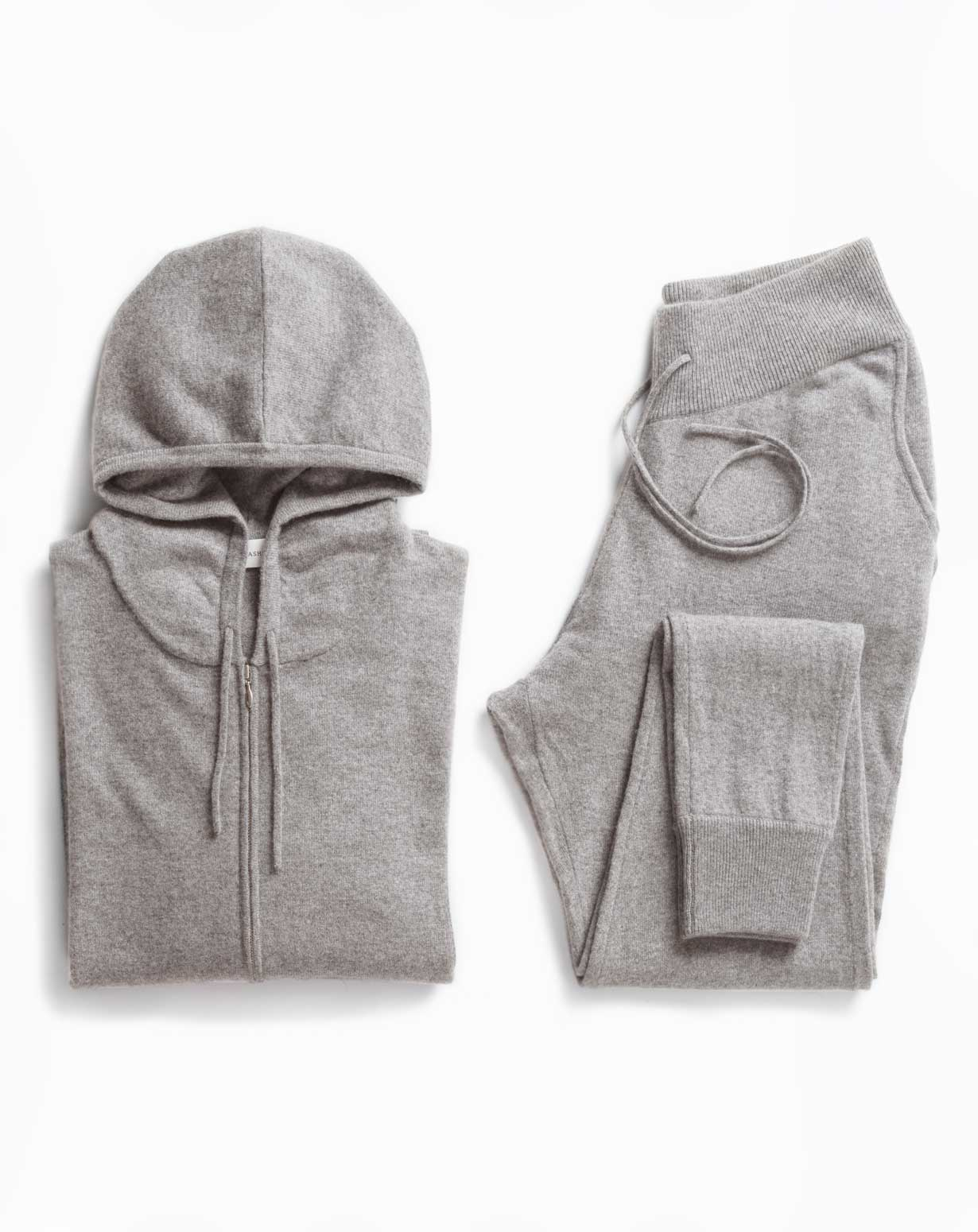 Men's Weekend Set - Cashmere Zip Hoodie & Trousers